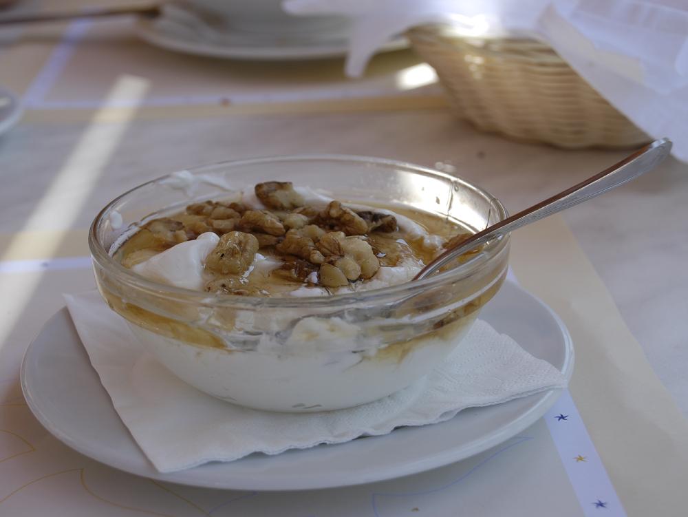 Graikijos reisutai , medus ir graikiskas jogurtas